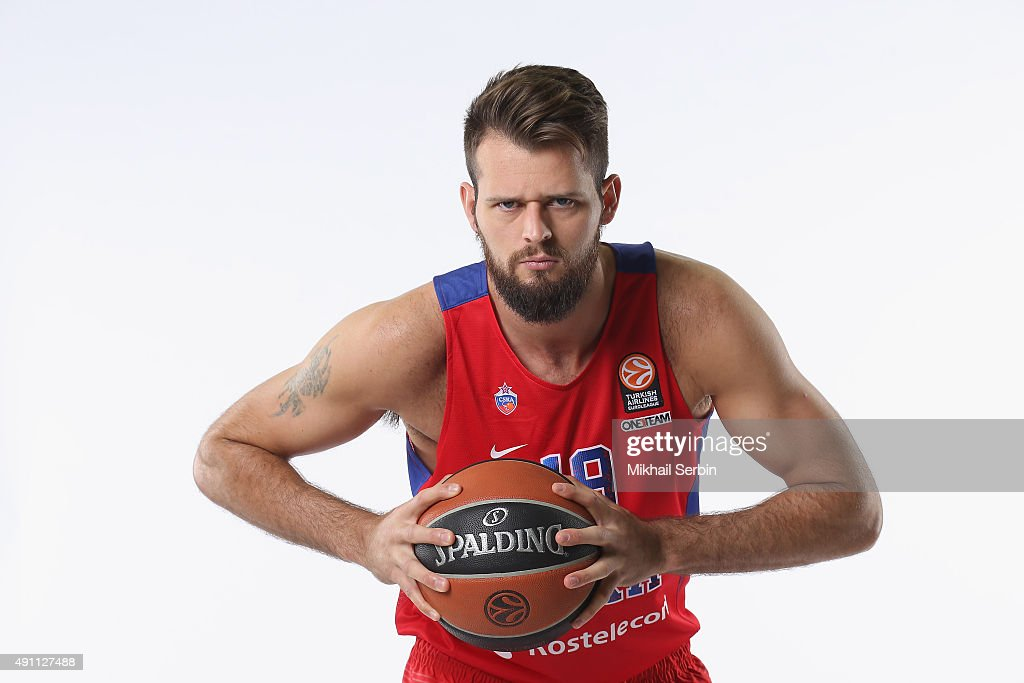 Joel Freeland #19 of CSKA Moscow during the 2015/2016 Turkish Airlines Euroleague Basketball Media Day at Universal Sports Hall CSKA on October 1...