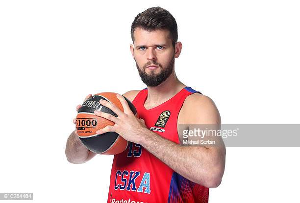 Joel Freeland #19 of CSKA Moscow poses during the 2016/2017 Turkish Airlines EuroLeague Media Day at USH CSKA on September 23 2016 in Moscow Russia