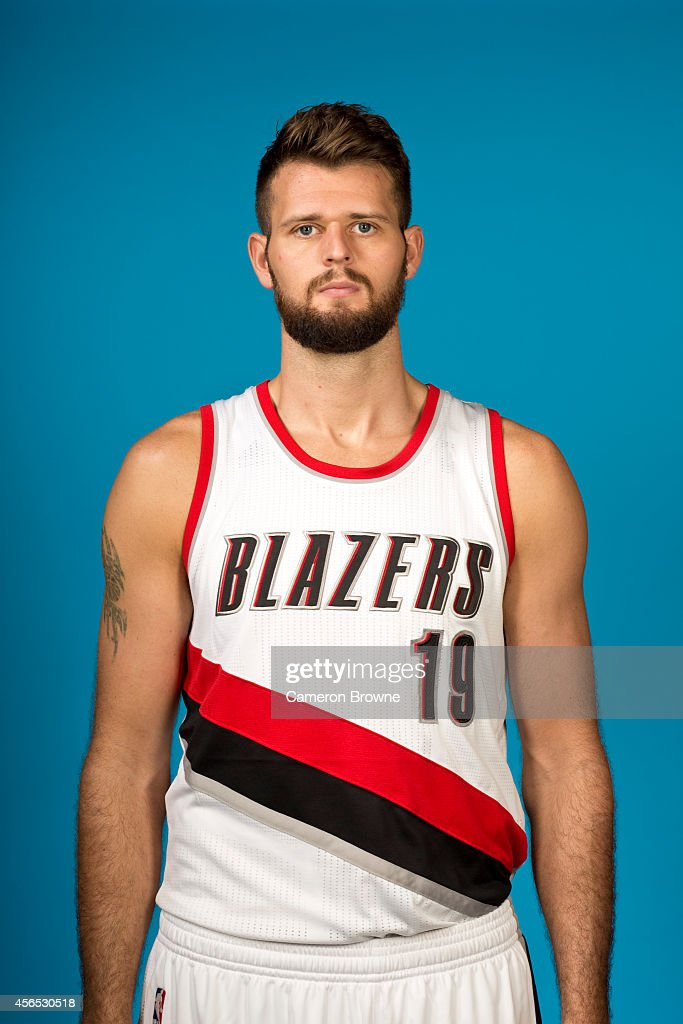 Joel Freeland of the Portland Trail Blazers poses for a photo during Media Day on September 29 2014 at the Moda Center Arena in Portland Oregon NOTE...