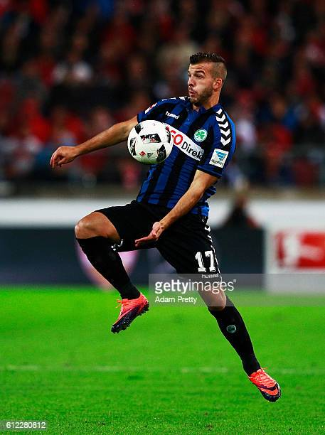 Joel Gerezgiher of SpVgg Greuther Fuerth in action during the Second Bundesliga match between VfB Stuttgart and SpVgg Greuther Fuerth at MercedesBenz...