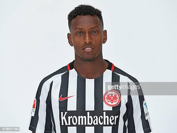 Joel Gerezgiher poses during the Eintracht Frankfurt Team Presentation on July 21 2016 in Frankfurt am Main Germany