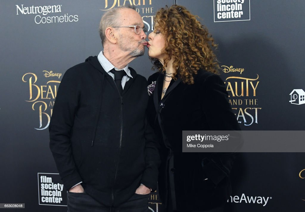 Joel Grey and Bernadette Peters attend the 'Beauty And The Beast' New York Screening at Alice Tully Hall at Lincoln Center on March 13, 2017 in New York City.