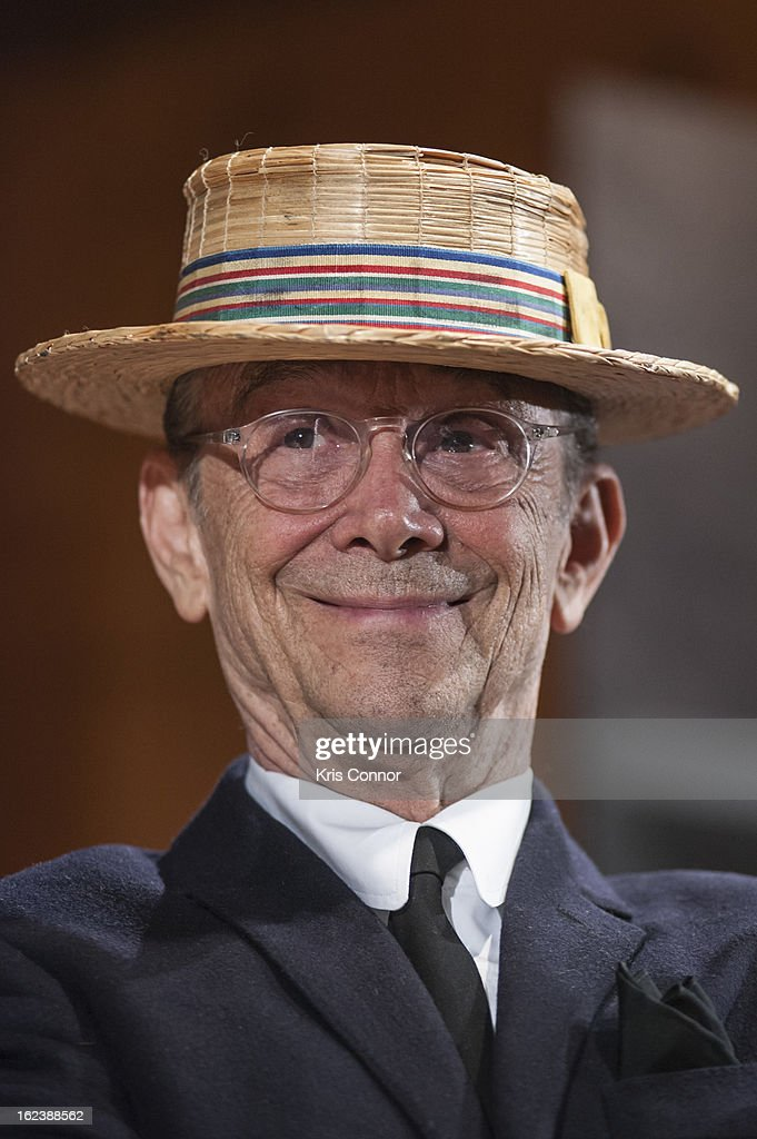 <a gi-track='captionPersonalityLinkClicked' href=/galleries/search?phrase=Joel+Grey&family=editorial&specificpeople=215297 ng-click='$event.stopPropagation()'>Joel Grey</a> poses for a photo during 'Cabaret' Washington DC Screening Honoring <a gi-track='captionPersonalityLinkClicked' href=/galleries/search?phrase=Joel+Grey&family=editorial&specificpeople=215297 ng-click='$event.stopPropagation()'>Joel Grey</a> at Smithsonian National Museum Of American History on February 22, 2013 in Washington, DC.