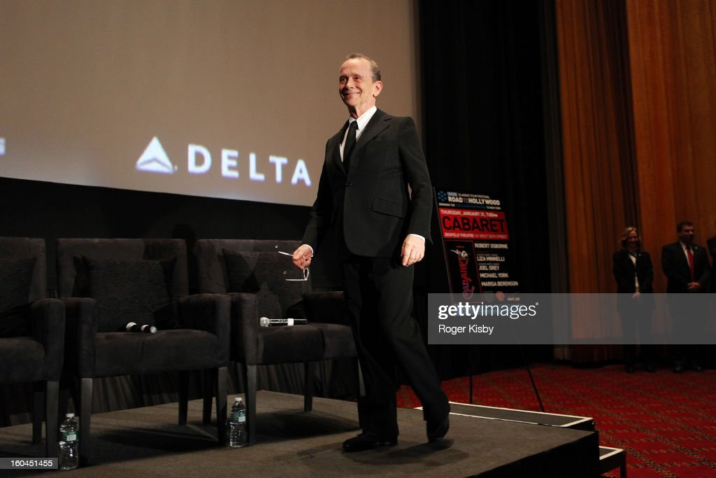 <a gi-track='captionPersonalityLinkClicked' href=/galleries/search?phrase=Joel+Grey&family=editorial&specificpeople=215297 ng-click='$event.stopPropagation()'>Joel Grey</a> speaks at the 'Cabaret' 40th Anniversary New York Screening at Ziegfeld Theatre on January 31, 2013 in New York City.