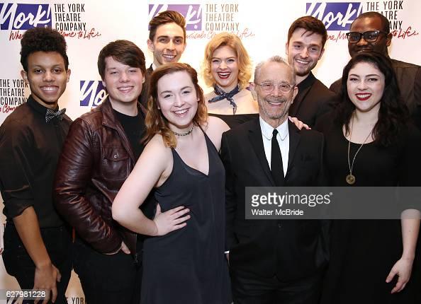 Joel Grey with Marymount Manhattan College ensemble attend the York Theatre Company's 25th Oscar Hammerstein Award Gala honoring Joel Grey at The...