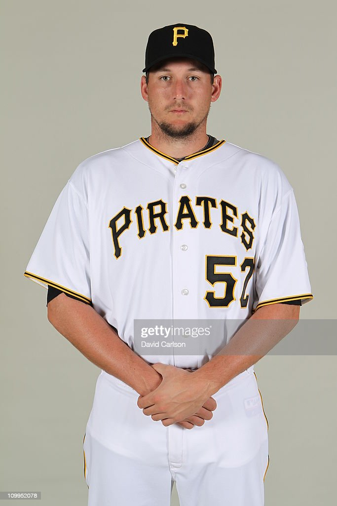 <a gi-track='captionPersonalityLinkClicked' href=/galleries/search?phrase=Joel+Hanrahan&family=editorial&specificpeople=2527864 ng-click='$event.stopPropagation()'>Joel Hanrahan</a> #52 of the Pittsburgh Pirates poses during Photo Day on Sunday, February 20, 2011 at McKechnie Field in Bradenton, Florida.
