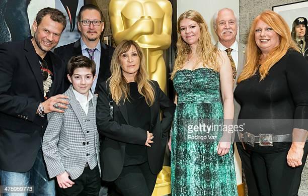 Joel Harlow Mason Cook Stephen Prouty Gloria PasqaCasny Robin Mathews Leonard Engelman and Adruitha Lee attend the 86th Annual Academy Awards Oscar...
