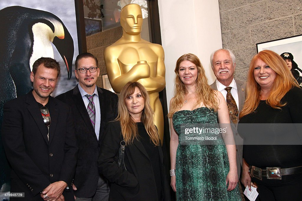 Joel Harlow, Stephen Prouty, Gloria Pasqua Casny, Robin Mathews, Academy Governor Leonard Engelman and Adruitha Lee attend the 86th Annual Academy Awards - Makeup And Hairstyling at the AMPAS Samuel Goldwyn Theater on March 1, 2014 in Beverly Hills, California.