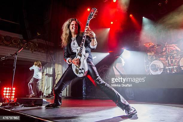 Joel Hoekstra of Whitesnake performs at Grand Regency Ballroom on June 11 2015 in San Francisco California