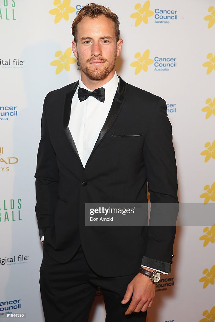 Joel Jackson arrives ahead of Cancer Council Australia's Emeralds & Ivy Gala Ball at Sydney Town Hall on October 9, 2015 in Sydney, Australia.