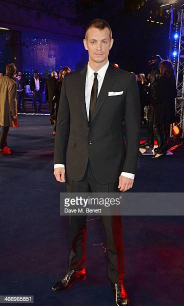 Joel Kinnaman attends the World Premiere of 'RoboCop' at the BFI IMAX on February 5 2014 in London England