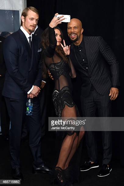 Joel Kinnaman Genesis Rodriguez and Common attend the 'Run All Night' New York Premiere at AMC Lincoln Square Theater on March 9 2015 in New York City