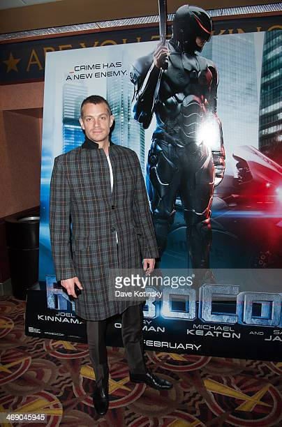 Joel Kinnaman surprises NYC students during a 'Robocop' special screening at AMC 34th Street on February 12 2014 in New York City