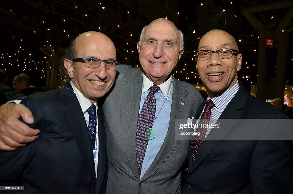 Joel Klein, chief executive officer of the education unit at News Corp., from left, Kenneth 'Ken' Langone, co-founder of Home Depot Inc., and Dennis Walcott, chancellor of the New York City Department of Education, attend the Robin Hood Foundation Gala in New York, U.S., on Monday, May 13, 2013. The annual event raises money for the Robin Hood Foundation, which funds and partners with programs to alleviate poverty in the lives of New Yorkers. Photographer: Amanda Gordon/Bloomberg via Getty Images