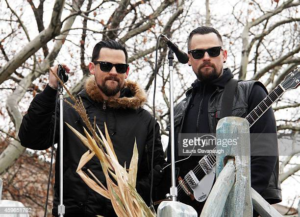 Joel Madden and Benji Madden attend the 88th Annual Macy's Thanksgiving Day Parade on November 27 2014 in New York City