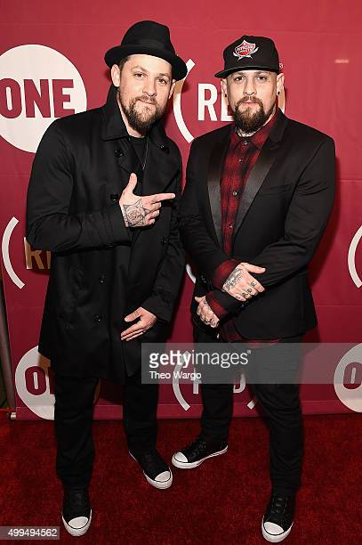 Joel Madden and Benji Madden attend the ONE Campaign and 's 'It Always Seems Impossible Until It Is Done' 10th anniversary celebration at Carnegie...