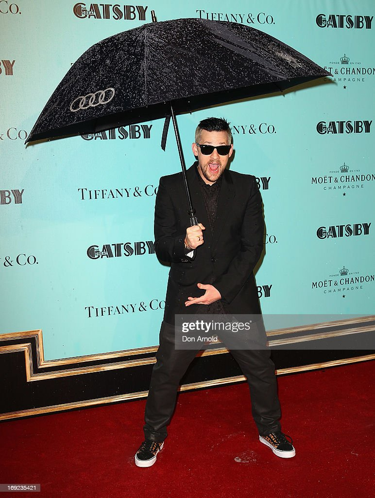 Joel Madden arrives for the Sydney premiere of The Great Gatsby at Moore Park on May 22, 2013 in Sydney, Australia.
