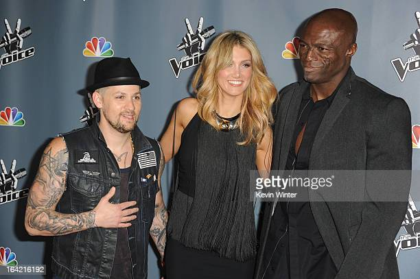 Joel MaddenDelta Goodrem and Seal arrive at the screening of NBC's 'The Voice' Season 4 at TCL Chinese Theatre on March 20 2013 in Hollywood...