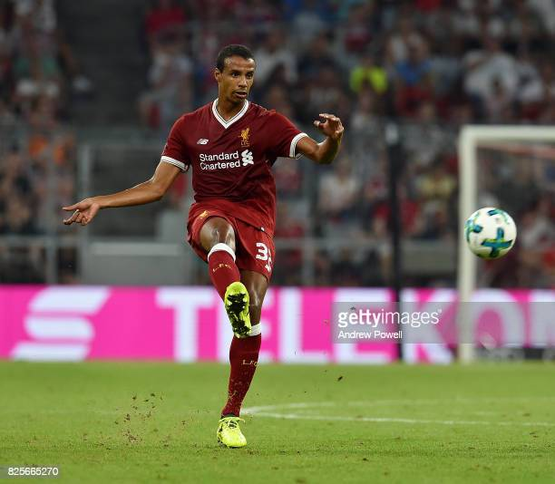 Joel Matip of Liveprool during the Audi Cup 2017 match between Liverpool FC and Atletico Madrid at Allianz Arena on August 2 2017 in Munich Germany