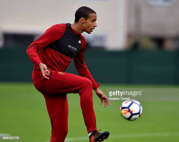 Joel Matip of Liverpool during a training session at Melwood Training Ground on October 9 2017 in Liverpool England