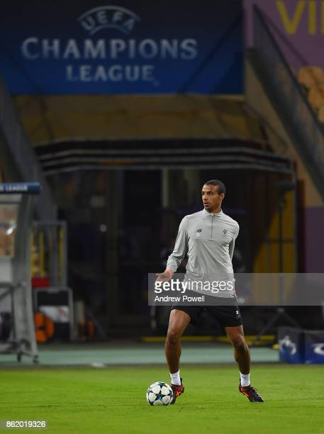 Joel Matip of Liverpool during a training session at Stadion Ljudski vrt on October 16 2017 in Maribor Slovenia