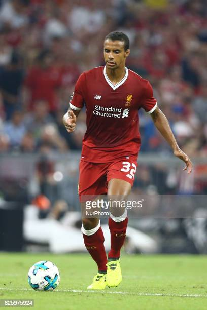 Joel Matip of Liverpool during the Audi Cup 2017 match between Liverpool FC and Atletico Madrid at Allianz Arena on August 2 2017 in Munich Germany