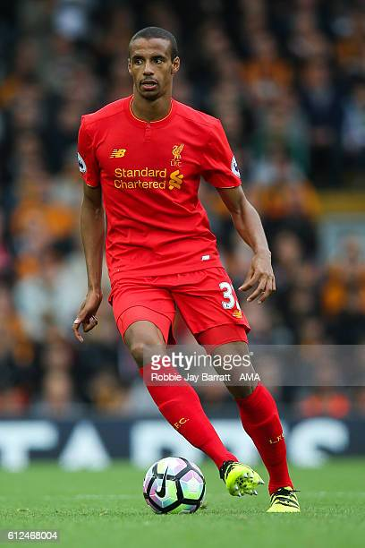Joel Matip of Liverpool during the Premier League match between Liverpool and Hull City at Anfield on September 24 2016 in Liverpool England