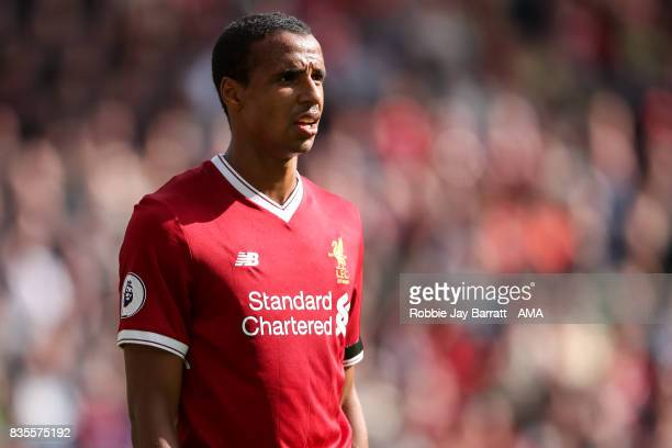 Joel Matip of Liverpool during the Premier League match between Liverpool and Crystal Palace at Anfield on August 19 2017 in Liverpool England