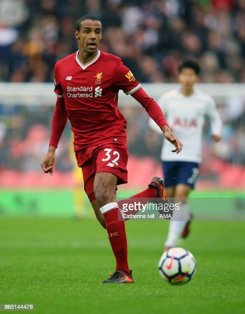 Joel Matip of Liverpool during the Premier League match between Tottenham Hotspur and Liverpool at Wembley Stadium on October 22 2017 in London...