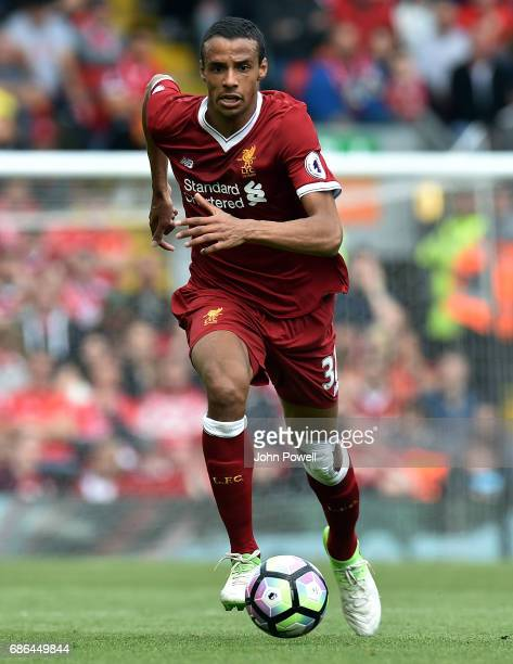 Joel Matip of Liverpool during the Premier League match between Liverpool FC and Middlesbrough FC at Anfield on May 21 2017 in Liverpool England