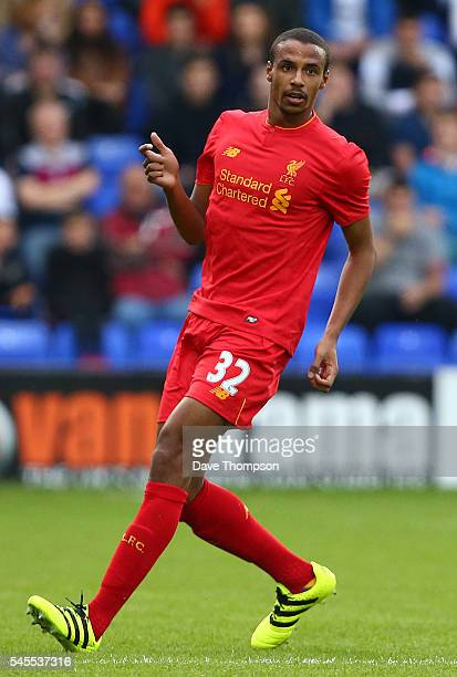 Joel Matip of Liverpool during the PreSeason Friendly match between Tranmere Rovers and Liverpool at Prenton Park on July 8 2016 in Birkenhead England