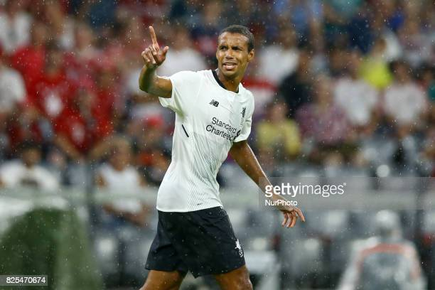 Joel Matip of Liverpool during the second Audi Cup football match between FC Bayern Munich and FC Liverpool in the stadium in Munich southern Germany...