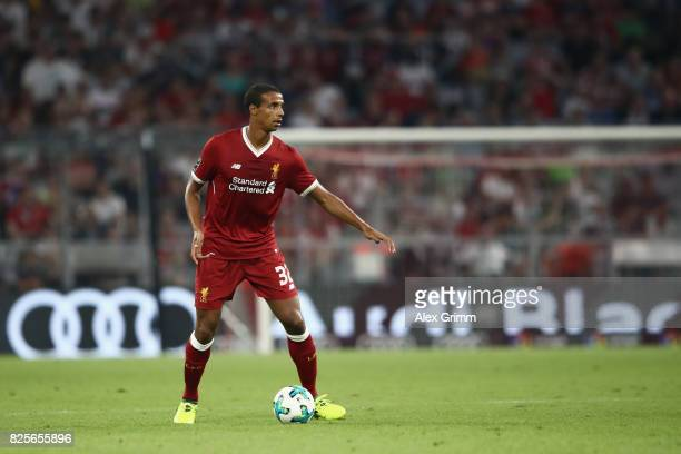 Joel Matip of Liverpool FC in action during the Audi Cup 2017 match between Liverpool FC v Atletico Madrid at Allianz Arena on August 2 2017 in...