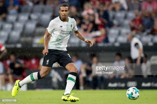 Joel Matip of Liverpool FC runs with the ball during the Audi Cup 2017 match between Bayern Muenchen and Liverpool FC at Allianz Arena on August 1...