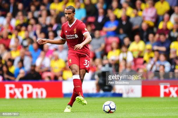 Joel Matip of Liverpool in action during the during the Premier League match between Watford and Liverpool at Vicarage Road on August 12 2017 in...