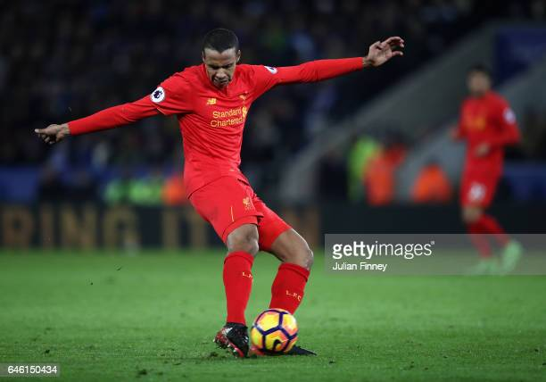 Joel Matip of Liverpool in action during the Premier League match between Leicester City and Liverpool at The King Power Stadium on February 27 2017...