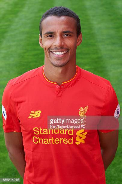 Joel Matip of Liverpool poses for a portrait at Melwood Training Ground on August 5 2016 in Liverpool England