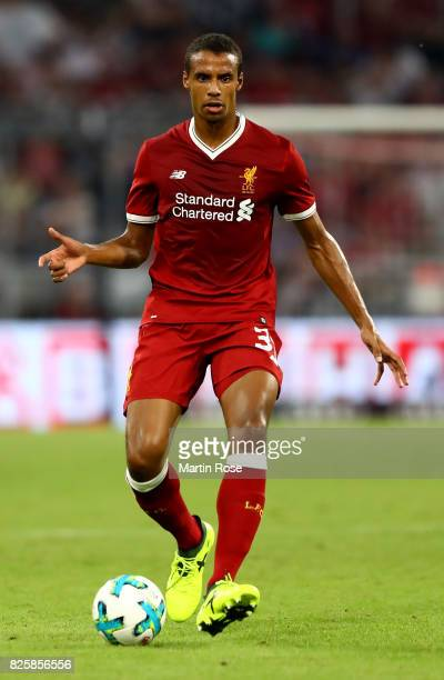 Joel Matip of Liverpool runs with the ball during the Audi Cup 2017 match between Liverpool FC and Atletico Madrid at Allianz Arena on August 2 2017...