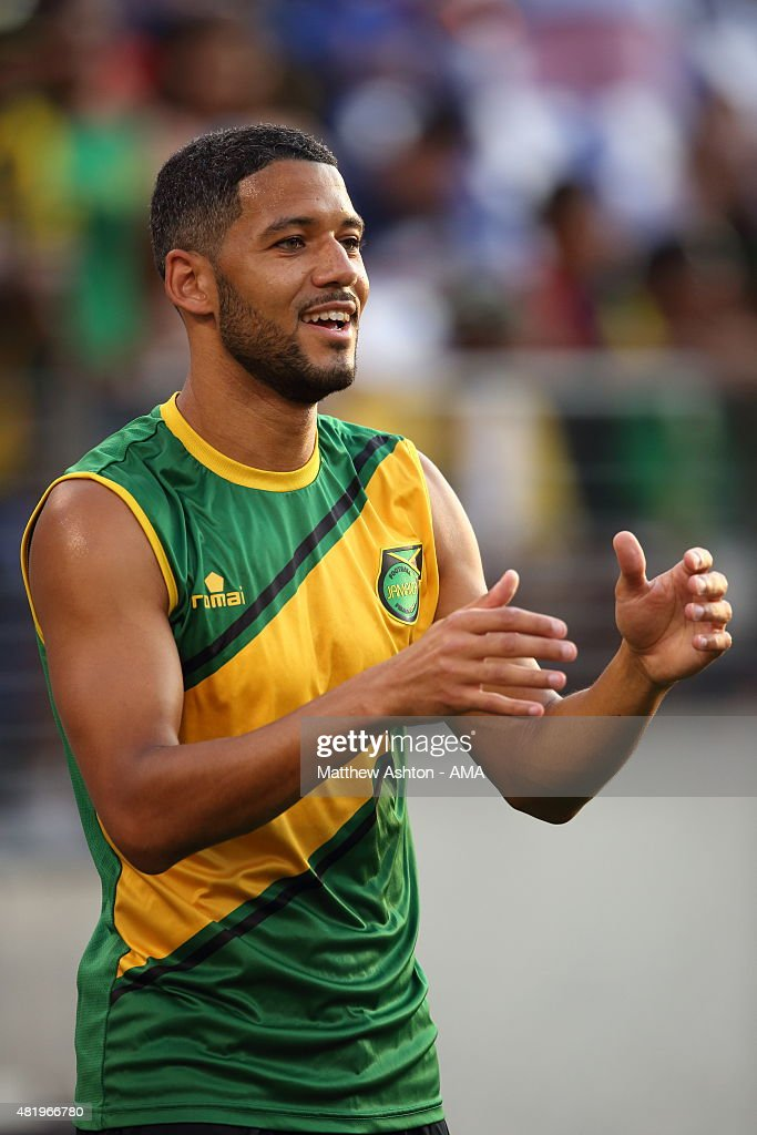 Joel McAnuff of Jamaica during the Gold Cup Quarter Final between Haiti and Jamaica at M&T Bank Stadium on July 18, 2015 in Baltimore, Maryland.