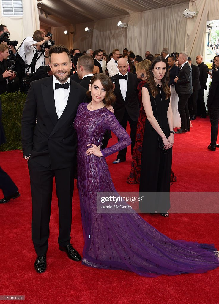 Joel McHale and Alison Brie attend the 'China Through The Looking Glass' Costume Institute Benefit Gala at the Metropolitan Museum of Art on May 4...