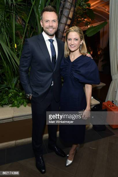 Joel McHale and Sarah Williams attend ELLE's 24th Annual Women in Hollywood Celebration presented by L'Oreal Paris Real Is Rare Real Is A Diamond and...
