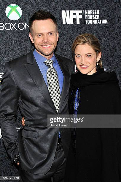 Joel McHale and wife Sarah Williams arrive at Variety's 4th Annual Power of Comedy at the Avalon on November 16 2013 in Hollywood California