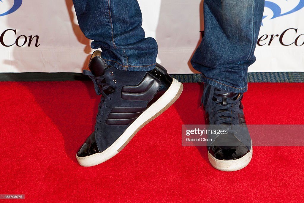 <a gi-track='captionPersonalityLinkClicked' href=/galleries/search?phrase=Joel+McHale&family=editorial&specificpeople=754384 ng-click='$event.stopPropagation()'>Joel McHale</a> (shoe detail) attends WonderCon Anaheim 2014 - Screen Gems' 'Deliver Us From Evil' Photo Call at Anaheim Convention Center on April 19, 2014 in Anaheim, California.