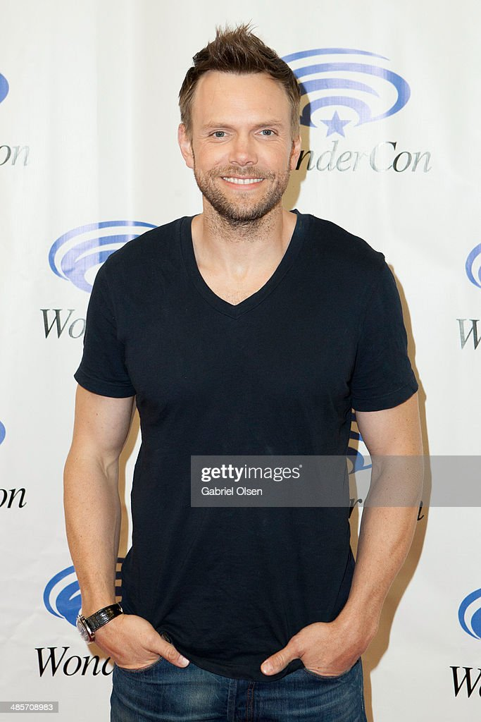 <a gi-track='captionPersonalityLinkClicked' href=/galleries/search?phrase=Joel+McHale&family=editorial&specificpeople=754384 ng-click='$event.stopPropagation()'>Joel McHale</a> attends WonderCon Anaheim 2014 - Screen Gems' 'Deliver Us From Evil' Photo Call at Anaheim Convention Center on April 19, 2014 in Anaheim, California.