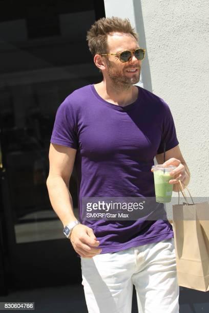 Joel McHale is seen on August 11 2017 in Los Angeles California