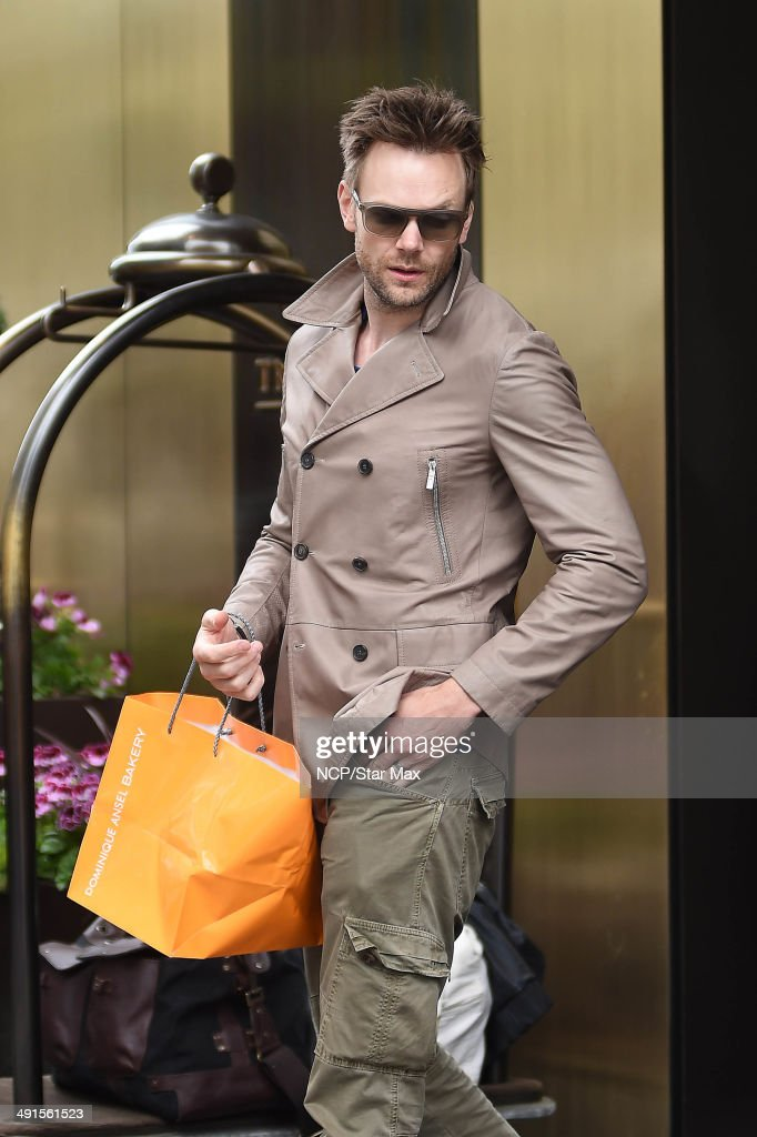 Joel McHale is seen on May 16 2014 in New York City