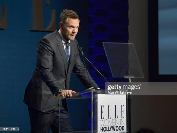 Joel McHale onstage at ELLE's 24th Annual Women in Hollywood Celebration presented by L'Oreal Paris Real Is Rare Real Is A Diamond and CALVIN KLEIN...