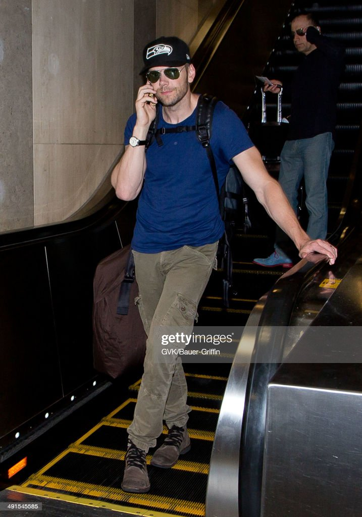 Joel McHale seen at LAX on May 16, 2014 in Los Angeles, California.