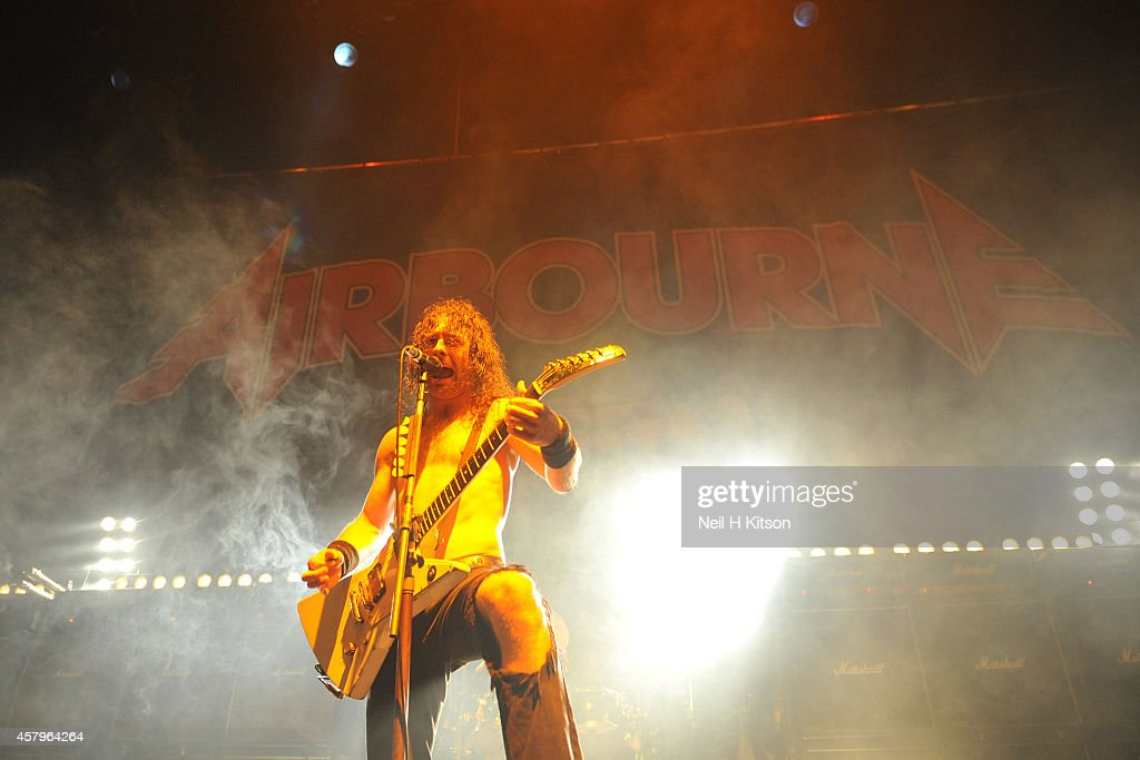 Joel O'Keefe of Airbourne on October 27, 2014 in Sheffield, England.
