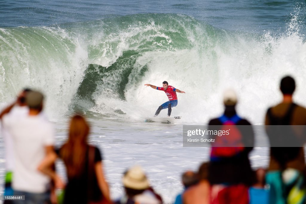 <a gi-track='captionPersonalityLinkClicked' href=/galleries/search?phrase=Joel+Parkinson&family=editorial&specificpeople=234875 ng-click='$event.stopPropagation()'>Joel Parkinson</a> of Australia avoids having the collapsing wave break on his head on October 4, 2012 in Hossegor, France.